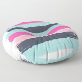 Abstract minimal painted stripes pattern basic nursery gender neutral decor gifts Floor Pillow
