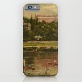 The Royal Star and Garter Home - Richmond on the Thames River landscape by James Isaiah Lewis iPhone Case