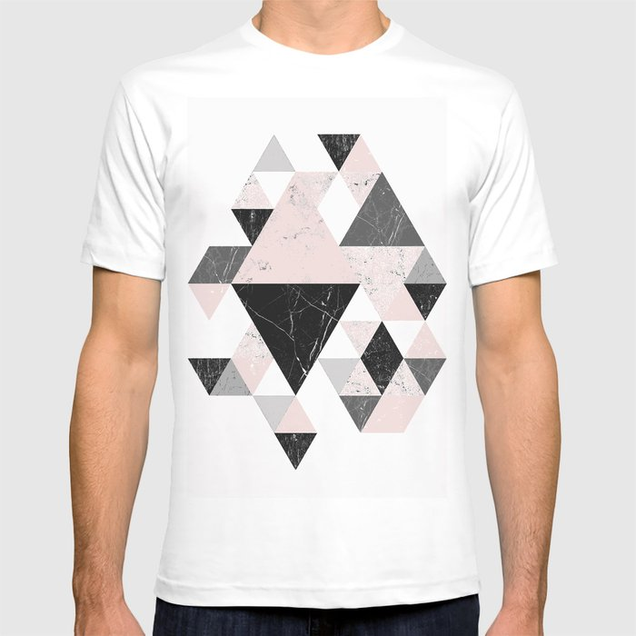 f1f748f35931 Triangle pattern modern geometric abstract ll T-shirt by deanng ...