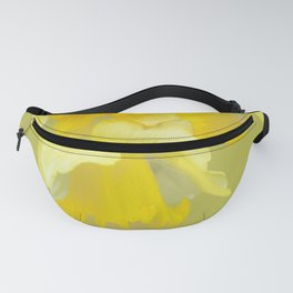 Sign of Spring - Yellow Narcissus on Spring Green Background #decor #society6 #buyart Fanny Pack