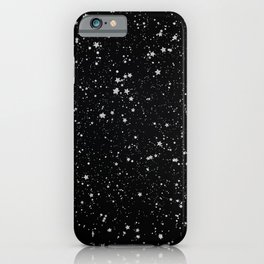 Glitter Stars2 - Silver Black iPhone Case