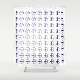 Flag of Finland 5 -finnish, Suomi, Sami,Finn,Helsinki,Tampere Shower Curtain