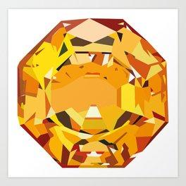 Orange Diamond Art Print