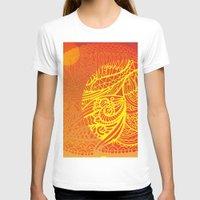 orange pattern T-shirts featuring Orange Pattern by RifKhas