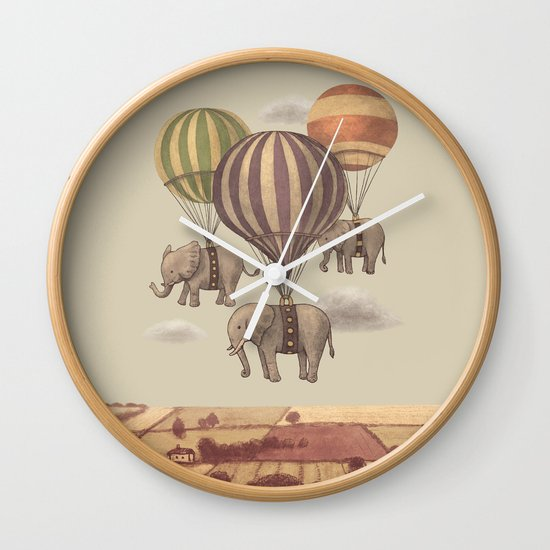 Flight of the Elephants  Wall Clock