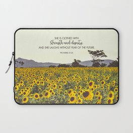 Proverbs and Sunflowers Laptop Sleeve