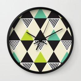 Geometric Pattern #48 (Mid-century) Wall Clock