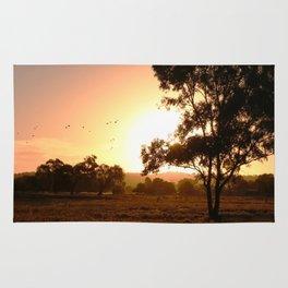 Evening Golden Landscape Rug