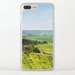 Beautiful spring landscape in Tuscany countryside, Italy Clear iPhone Case
