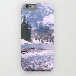 Outlet, Maroon Lake/Maroon Bells above Aspen, Colorado iPhone Case