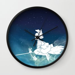 Kiki's Delivery Service Illustration Wall Clock