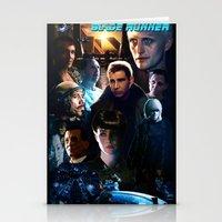 blade runner Stationery Cards featuring Blade Runner by Saint Genesis
