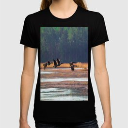 Flying Canadian Geese T-shirt
