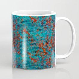 Turquoise with Red Coffee Mug
