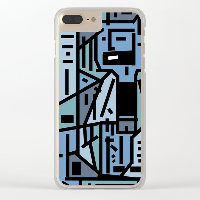 The sad hipster and the copper mosquito Clear iPhone Case