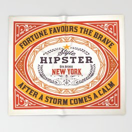 Fortune favours the Brave Throw Blanket