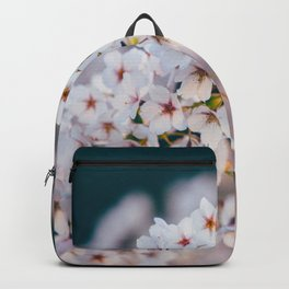 White Cherry Blossom On Branch Backpack