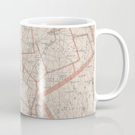 Vintage Map of Westchester County NY (1893) Coffee Mug