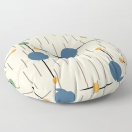 Retro Vintage pattern with dots and stripes Floor Pillow