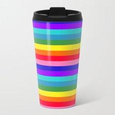 Stripes of Rainbow Colors Metal Travel Mug