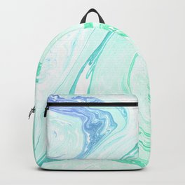 Green Marble Backpack