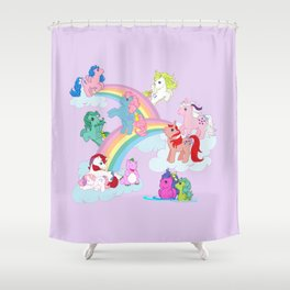 g1 my little pony early characters group Shower Curtain