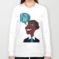 obama Long Sleeve T-shirts featuring OBAMA by artic