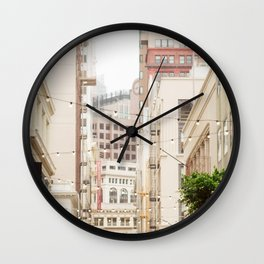 San Francisco Daydreaming in Union Square Wall Clock