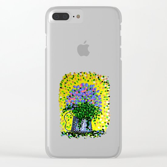 Explosive Flowers Clear iPhone Case