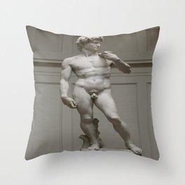 Michaelangelo's David Throw Pillow