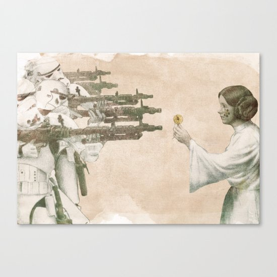 Flowers for Alderaan Canvas Print