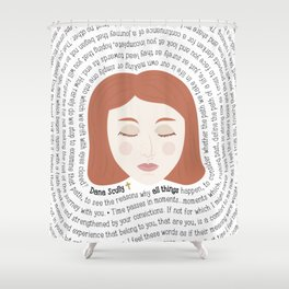 Dana Scully - XF Quotes Shower Curtain