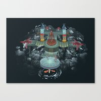 sisters Canvas Prints featuring Sisters by Miguel Co