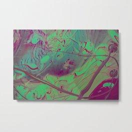 Acid Spill Metal Print