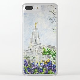 San Antonio Texas LDS Temple Clear iPhone Case