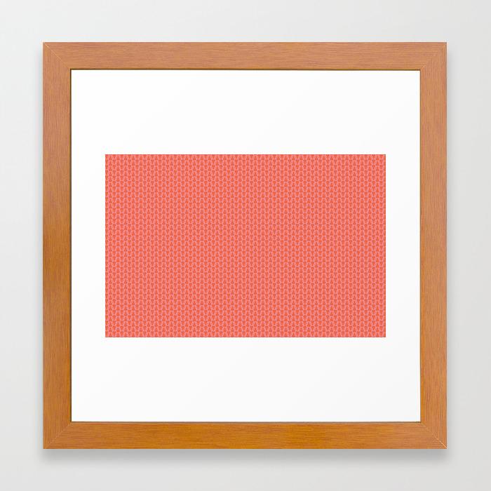U16 knit pink framed art print by uppercase society6