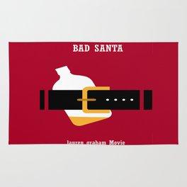 Bad Santa Lauren Graham Famous Movie Minimalist Design Rug
