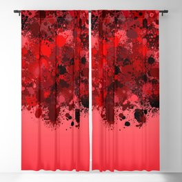 paint splatter on gradient pattern dr Blackout Curtain