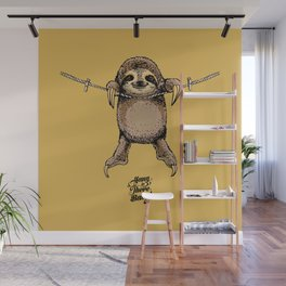 Hang in There Baby Sloth Wall Mural