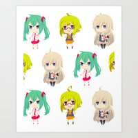 vocaloid Art Prints featuring Gumi/IA/Miku [Vocaloid Collection] by Eules