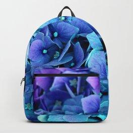 Purple Blue hydrangea Backpack