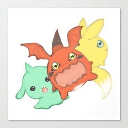 Digimon Baby Canvas Print