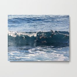 Body Surfing Metal Print