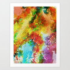 Geometric Organic Colors 2 Art Print