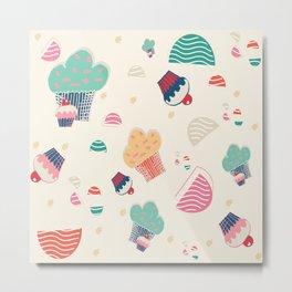 Cupcake cream Metal Print
