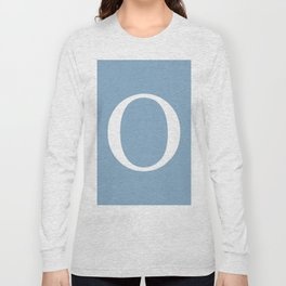 Letter O sign on placid blue background Long Sleeve T-shirt