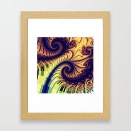 Abstract spirals and patterns Framed Art Print