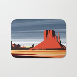 Monument Valley sunset magic realisim Bath Mat