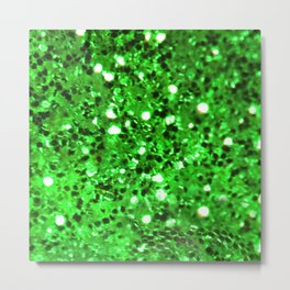 Green Bling Metal Print