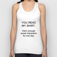 quotes Tank Tops featuring quotes by kawaiicookie
